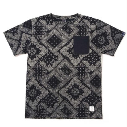 【APPLEBUM】Indigo Paisley Pocket T-shirt