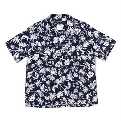 【APPLEBUM】Monotone Aloha Shirt [Navy]
