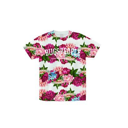花柄総柄Tシャツ