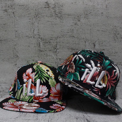 Colorful Flower ILL LOVE スナップバックキャップ