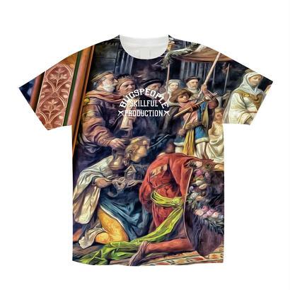 Over総柄Tシャツ