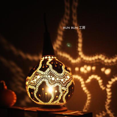 ひょうたんランプ--花びらの舞