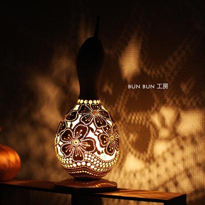 ひょうたんランプ--大輪の花--