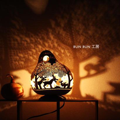 ひょうたんランプ---深夜の森--