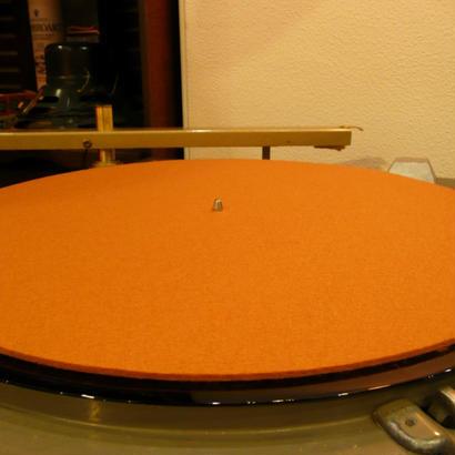 16インチ用ターンテーブルシート[Φ385mm 3mm厚/純毛フェルト染色GB]