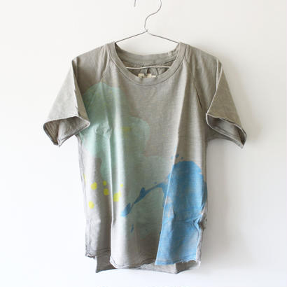 Kids clouds raglan tee / clay