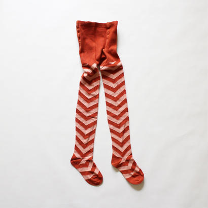 Kids tights chevron pattern / red pink