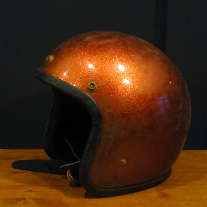 CAMPBELL HELMETS CH502-FLAKE/ORANGE (Vintage)