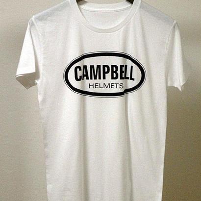 Campbell Helmets ブラック・ロゴ TEE ホワイト