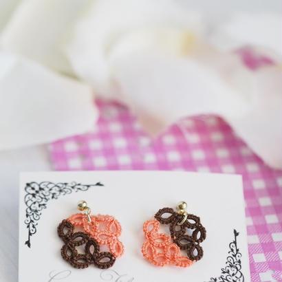 レースのチョコレートピアス(サーモンピンク)