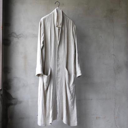 cavane キャヴァネ / Classic silk nep linen herringbone  Atelier Coatアトリエコート / ca-19019G
