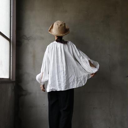 cavane キャヴァネ /   【受注】French linen Smock blouseスモックブラウス / ca-19007