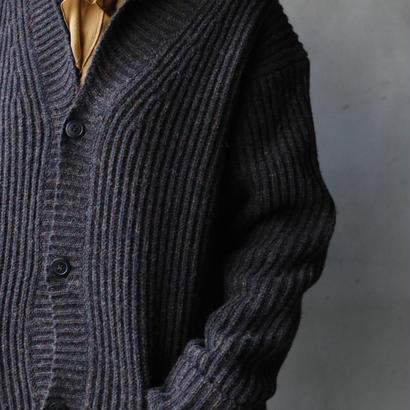 ANSNAMアンスナム / Rib knit cardigan  / an-18001