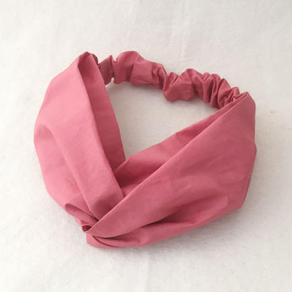 CROSS TURBAN / Coral Pink