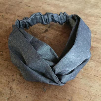 CROSS TURBAN / Shiny gray