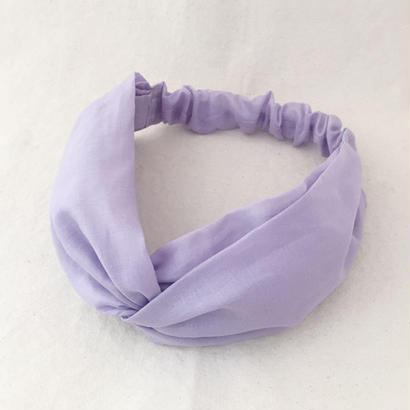 CROSS TURBAN /  Light Purple