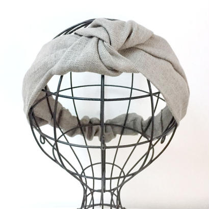 KNOT TURBAN / Beige Gray