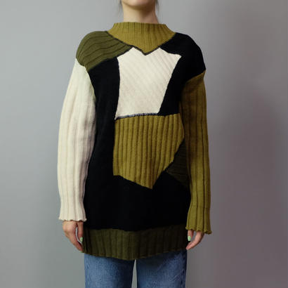 Vintage   Panel Design Knit