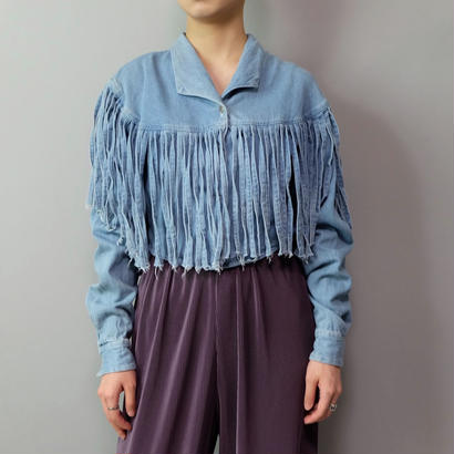 Vintage   Denim Fringe Shirt