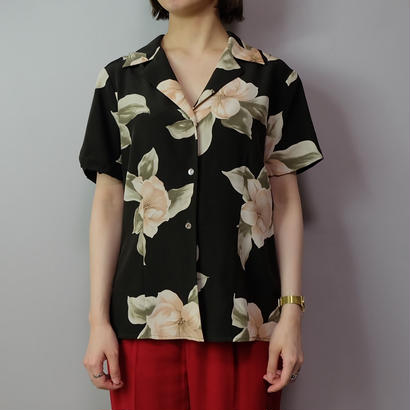 Vintage   Silk Flower Shirt