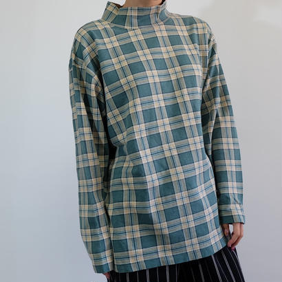VINTAGE CHECK HI NECK TOPS