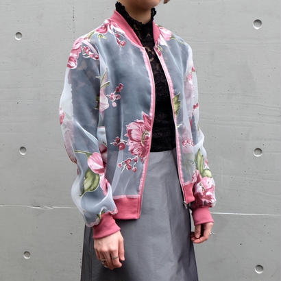 Vintage   Flower See‐through Jacket