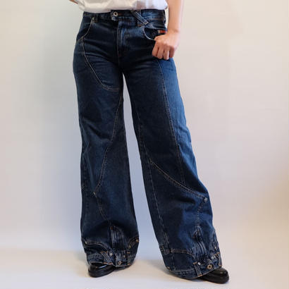 D&G WIDE DENIM PANTS