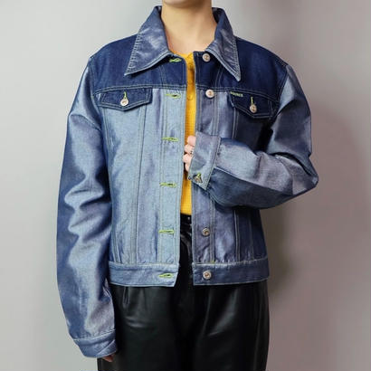 Vintage   Shiny Denim Jacket