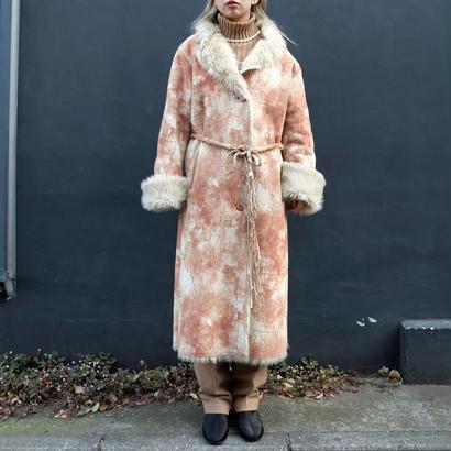 Vintage   Fake Leather Fur Coat
