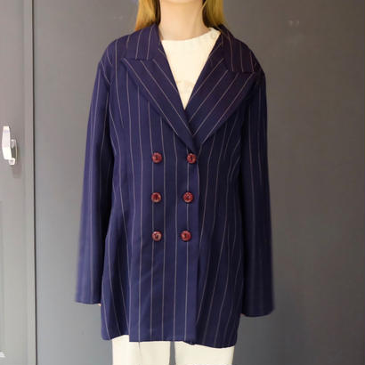 Vintage   Stripe Tailored Jacket