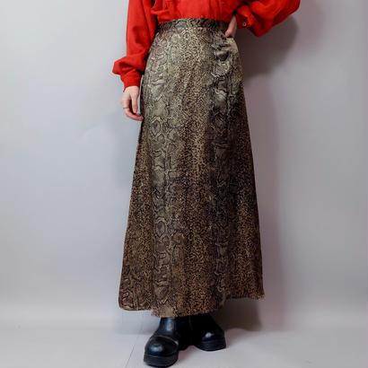 Vintage   Python Long Skirt