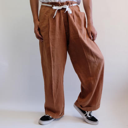 VINTAGE   LINEN BIG SLACKS PANTS