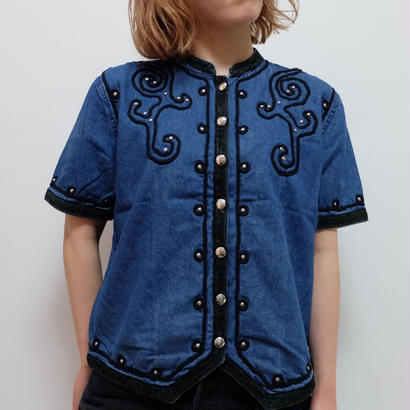 VINTAGE   DENIM NAPOLEON SHIRTS