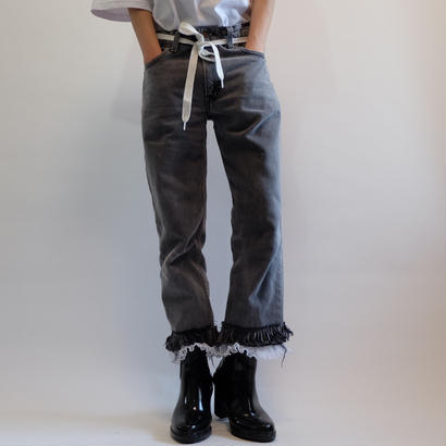SELENAHELIOS    FRIL  DENIM PANTS