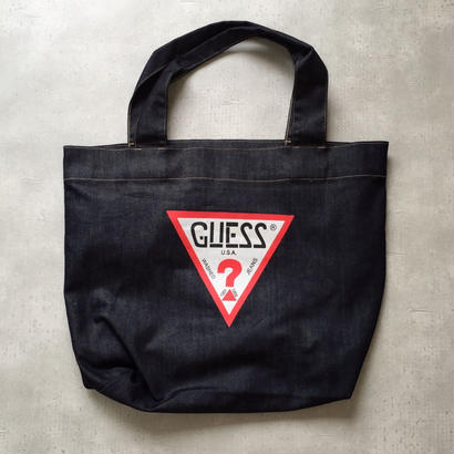 VINTAGE   GUESS DENIM TOTE BAG