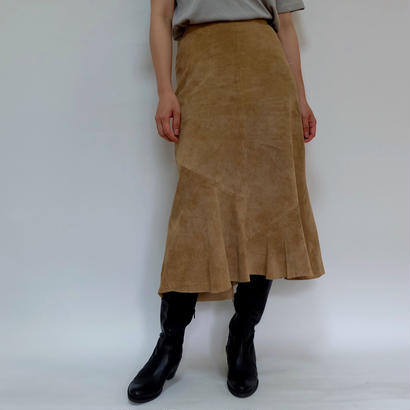 VINTAGE   suede leather SKIRT
