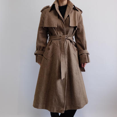 VINTAGE   WOOL TRENCH COAT
