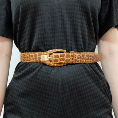 VINTAGE  crocodile BELT