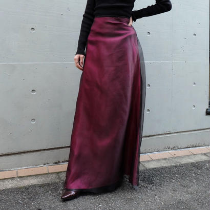 Vintage   See-through Long Skirt