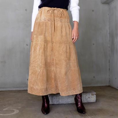 Vintage   Design Suedu Long Skirt