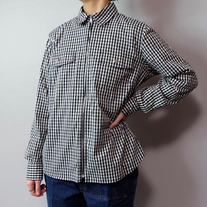 Vintage  Gingam Check Zip Shirt