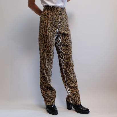 VINTAGE   MOSCHINO LEOPARD PANTS