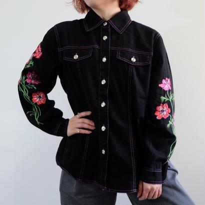 VINTAGE   FLW 刺繍 SHIRTS