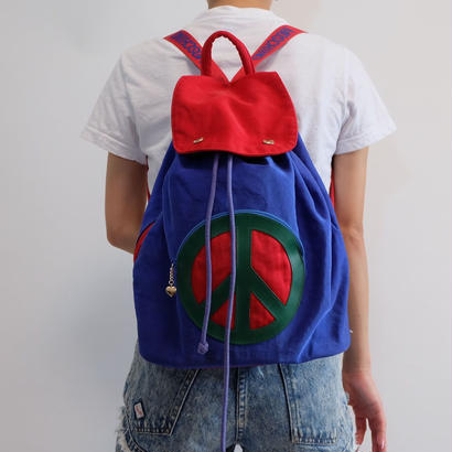 VINTAGE  MOSCHINO  PEACE BACKPACK