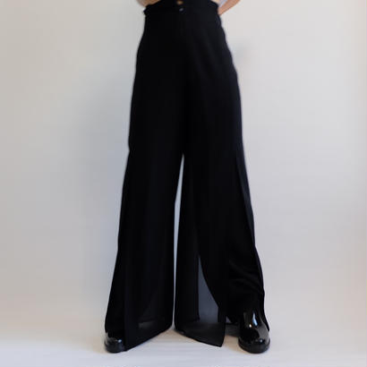 VINTAGE   SLIT SLACKS PANTS