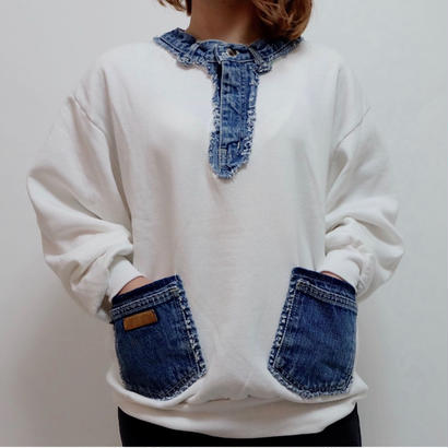 VINTAGE   DENIM REMAKE SWEAT
