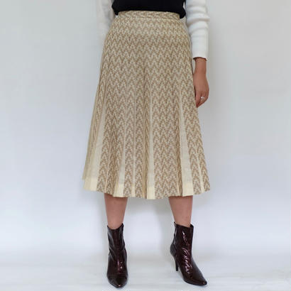 Vintage   Wool Pleats Skirt