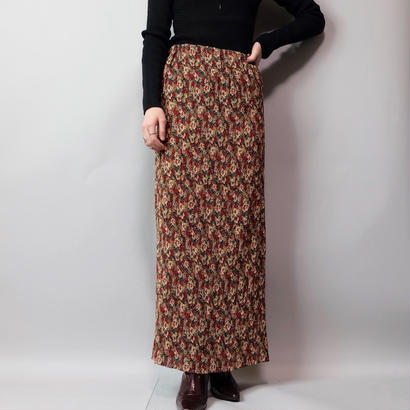 Vintage   Pleats Flower Skirt