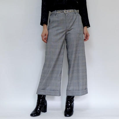 VINTAGE   Glen check  SLACKS PANTS