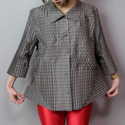 Vintage   Pleats Design Shirt